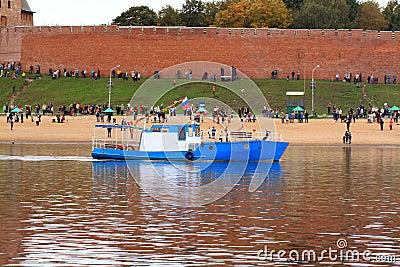 Old motorboat