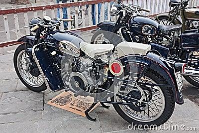 Moto Guzzi Falcone Sport Editorial Photography