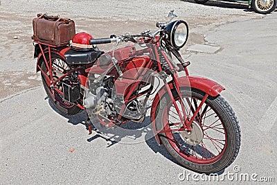 Old motorcycle Moto Guzzi Sport 14 Editorial Stock Image