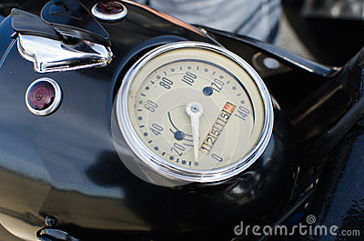 Old motorcycle speedometer