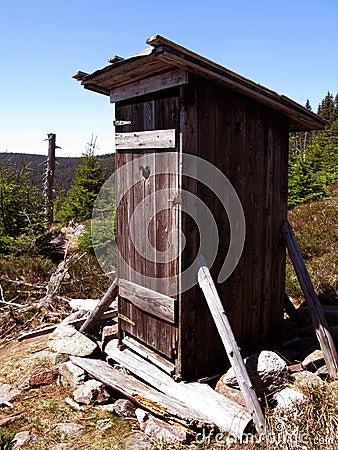 Old mountain toilet