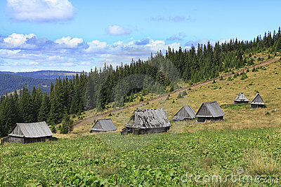 Old Mountain Village In Transylvania