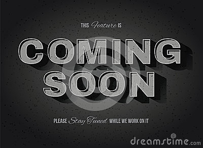 Old Movie Style Coming Soon Sign Stock Vector - Image ...