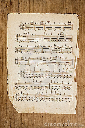 Free Old Musical Page. Royalty Free Stock Photography - 5366327