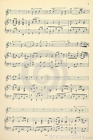 Old musical score - no lyrics