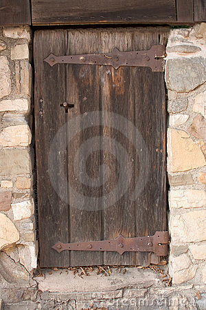 Free Old Mystery Wooden Door Stock Images - 1458874