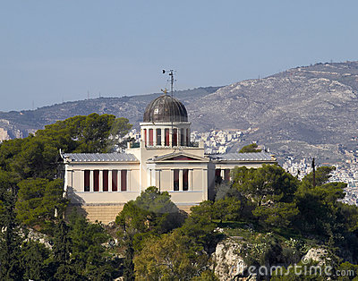 The old National observatory, view from Acropolis,