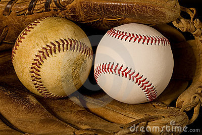 Old and New Baseballs