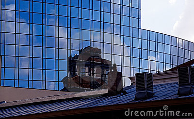 Old and new - buildings and reflections