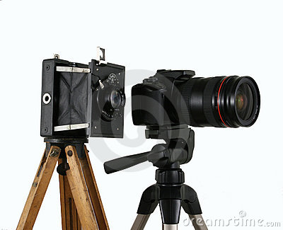 Old And New Camera Stock Photos - Image: 5064843