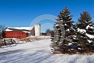 Old New England barn