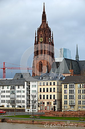 Old and New Frankfurt Germany