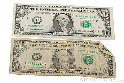 Old and New One Dollar Bill