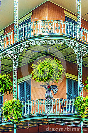 Old New Orleans houses in french