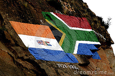 Old and new South African flag