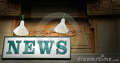 Old News Stand Sign