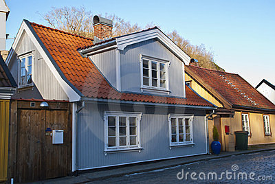 Old nice house in Halden.