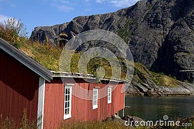 Old Norwegian fishing hut