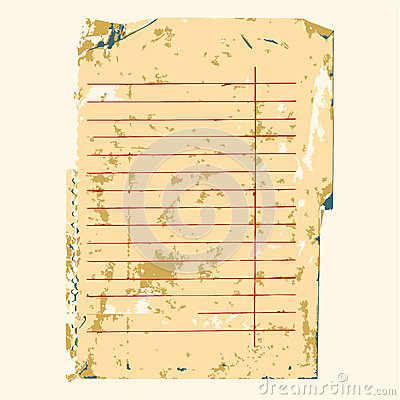 Old note paper background