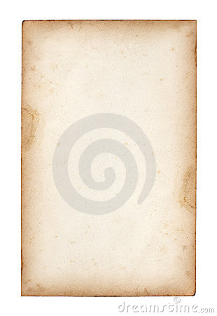 Free Old Note Paper On White Stock Image - 18155781