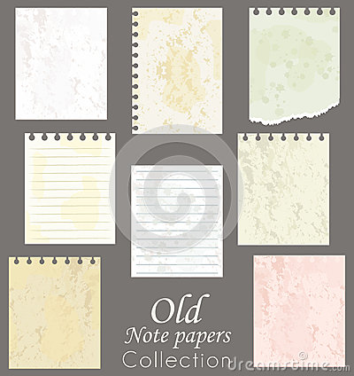 Old note papers.
