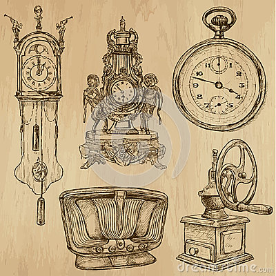 Free Old Objects No.5 - Hand Drawn Collection Royalty Free Stock Photos - 42147448