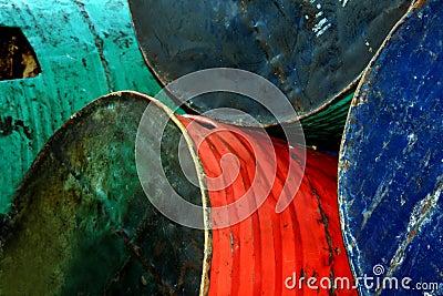 Old Oil Drums