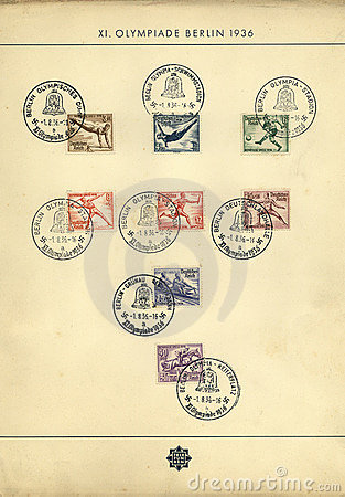 Old Olympic Games stamps