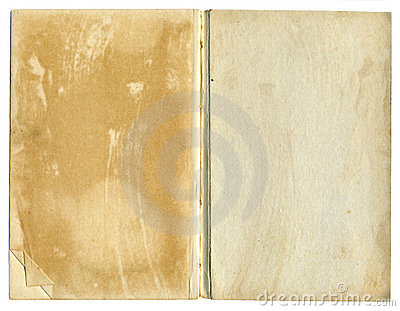 Old Open Book Featuring Rough Paper Texture
