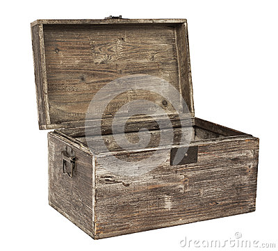 Free Old Open Wooden Chest Royalty Free Stock Photo - 37896025