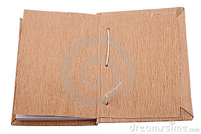 An old opened book
