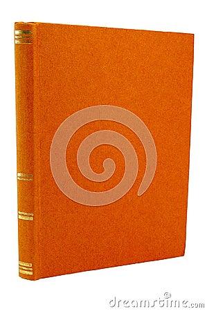 Old orange book cover.