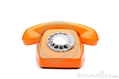 An old orange phone