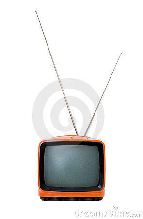 Free Old Orange Retro TV Stock Images - 1539614