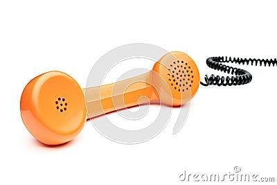 Old orange telephone tube