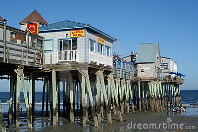 Old Orchard Beach, Maine Editorial Stock Photo
