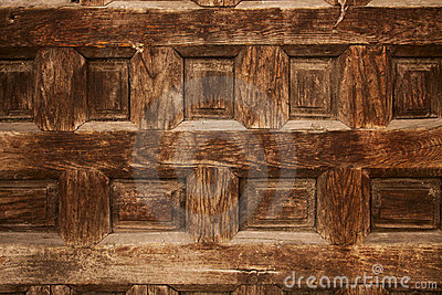 Old ornamental design in wood, wooden carved