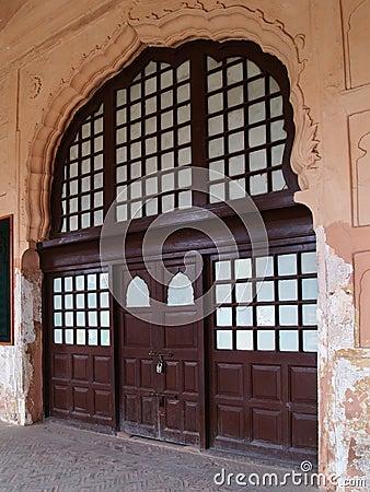 Old ornate doorway