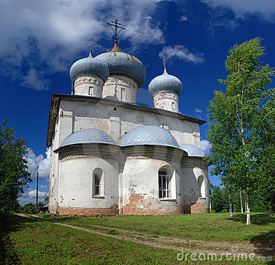 Old orthodox church in Belozersk