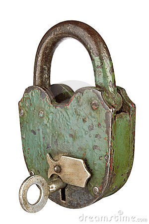 Free Old Padlock Royalty Free Stock Image - 23589636