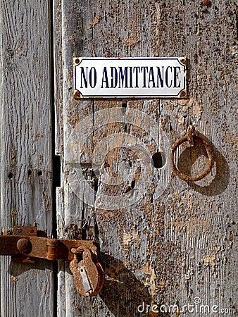 Old Padlocked Door