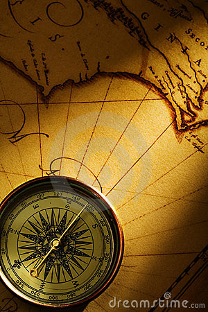 Free Old Page And Compass Stock Photo - 2359180