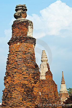 Old pagoda in Ayutthaya province