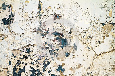 Old paint on a grungy corrosive metal