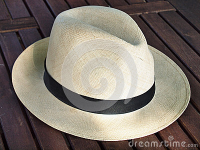Old panama hat