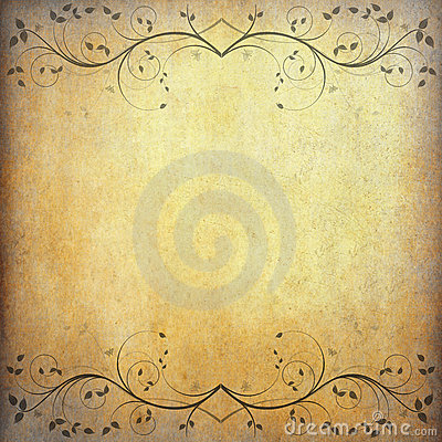 Free Old Paper Background With Vintage Flower Royalty Free Stock Photo - 21570295