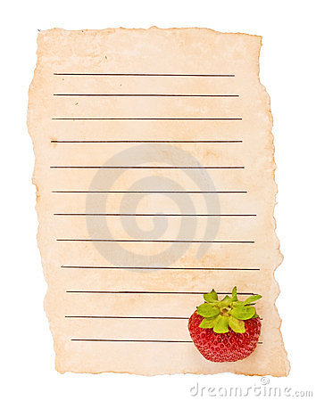 Old paper and berry