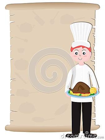 Old Paper Chef Recipe Menu_eps
