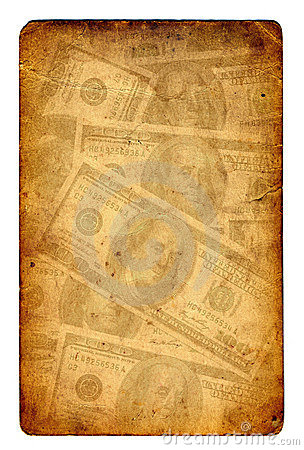 Old paper grunge dollar background