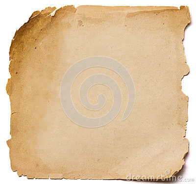 Free Old Paper Grunge Texture, Empty Yellow Page Isolated On White Ba Royalty Free Stock Photo - 42396515